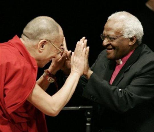 Dalai Lama and Desmond Tutu